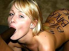 interracial mom fucking movies - Sharon Wild Branded Interracial Blowjob Eats Cumxxx