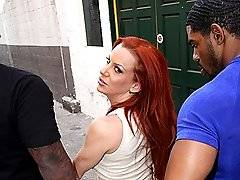 interracial mom fucking movies - Redhead Cougar MILF Does Interracial DP Eats Cumxxx
