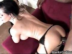 interracial mom fucking movies - This busty babe is really nasty. She eagers for thick black cock to fuck her.
