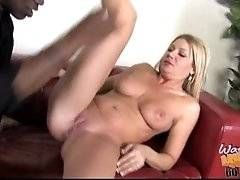 interracial mom fucking movies - Black man is so glad that the young guy who owns him money has such hot looking loving mom.