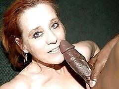 interracial mom fucking movies - Red mature slut munching on a big black cock