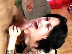 interracial mom fucking movies - Tattooed Mommy Michelle In A Frenzy With A Huge Cock Inside Her Pussy