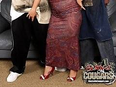 HOT Big Tits Cougar MILF Interracial Threesomexxx
