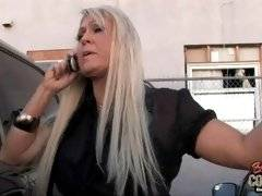 Amateur blonde is dreaming about rough fuck