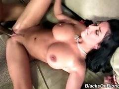 Dude with big dick is drilling her pussy