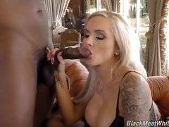 interracial mom fucking movies - Moe help Nina into various pairs of sexy heels while getting his dick blown, fucking her perfect soles, kissing those lovely white piggies, and, in th