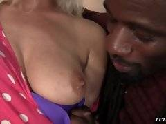 interracial mom fucking movies - This blonde babe is looking at the car with her ebony boyfriend. They cant figure out whats wrong so they go inside to clear their heads. She is weari